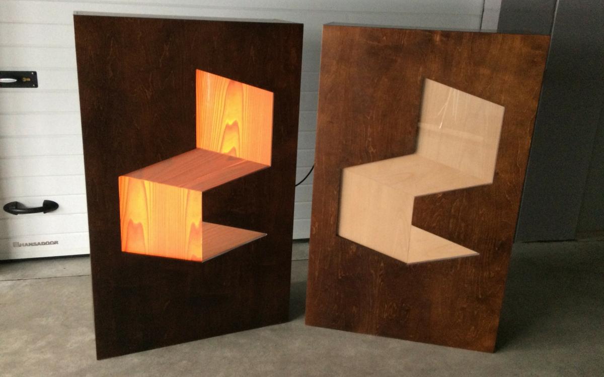 Kõnepuldi logo LED-valgustus 3D efektiga