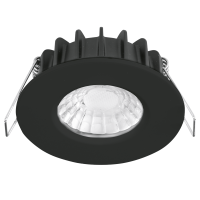 AURORA RT Pro™ LED Downlight 7W 3000K 680lm 60° IP65 Black Dim