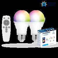 AURORA Connect.Control Starter Kit: 2 E27 RGBTW+remote