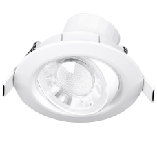 Enlite Spryte™ 8W Adjustable LED Downlight 3000K 620lm 60° white IP44 Dimmable