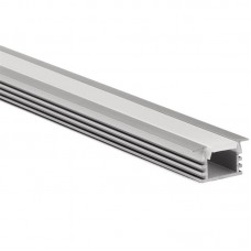 Recessed/surface LED profile 16x12mm with opal click cover 2m