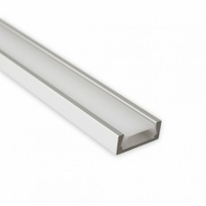 Recessed/surface LED profile 15.2x6mm MICRO with opal click cover 2m