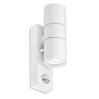 WALLEpir™ 2xGU10 IP44 fixed up&down wall light dimmable, white