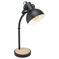 Desk lamp Lubenham 57cm 1xE27 base black