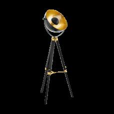 Floor Lamp Covaleda 1.64m 1xE27 Black/Gold