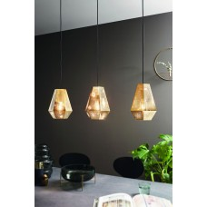 pendant lamp CHIAVICA 3xE27 base golden
