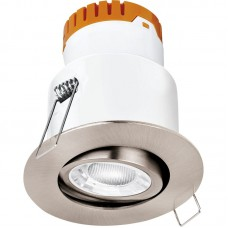 Enlite E8™ 8W Adjustable Dimmable Fire Rated LED Downlight 4000K 640lm 60° satin nickel