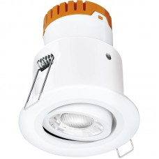 Enlite E8™ 8W Adjustable Dimmable Fire Rated LED Downlight 4000K 640lm 60° white