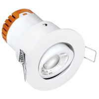 Enlite E5™ 4.5W Adjustable Dimmable FIRE RATED LED Downlight 3000K 420lm 60°-valge