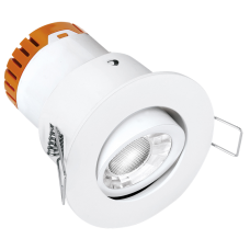 Enlite E5™ 4.5W Adjustable Dimmable FIRE RATED LED Downlight 3000K 420lm 60°