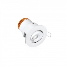 Enlite E5™ 4.5W Adjustable Dimmable Fire Rated LED Downlight 3000K 420lm 60° White