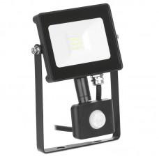 Enlite QuaZar™PIR LED prožektor 10W 4000K IP65 900lm must