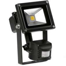 Enlite HeliusPIR™ LED Floodlight with PIR sensor 10W 4000K 750lm 120° Black