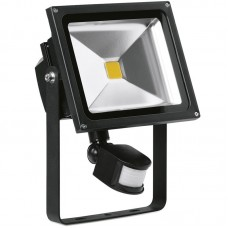 Enlite HeliusPIR™ LED Floodlight with PIR sensor 30W 4000K 2250lm 120° Black