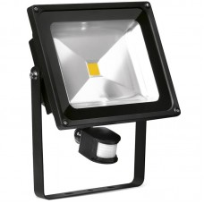 Enlite HeliusPIR™ LED Floodlight with PIR sensor 50W 4000K 3750lm 120° Black