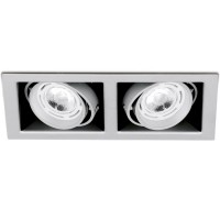 AURORA STUDIO™ PRO TWIN GU10 ADJUSTABLE DOWNLIGHTS WHITE