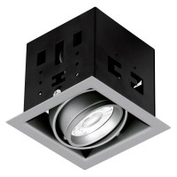 AURORA STUDIO™ PRO GU10 ADJUSTABLE DOWNLIGHTS SILVER