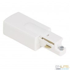 ENLITE TRAC™ GLOBAL 1F strack Power Input End - Live End, White
