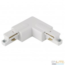 ENLITE TRAC™ GLOBAL 1F track Corner Connector L, White