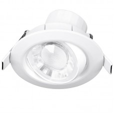 Enlite Spryte™ 8W Dimmable Adjustable LED Downlight 4000K 570lm 60° white IP44