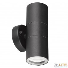 WALLE™ GU10 IP44 fixed up&down wall light dimmable black