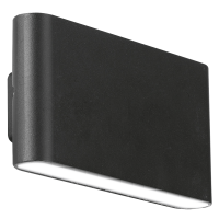 WALLEpro IP65 fixed up&down wall light 4000K 12W black