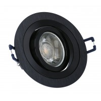 LED LINE® BRUSHED DOWNLIGHT ROUND 9.2CM ADJUSTABLE BLACK