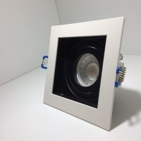 LED LINE® SQUARE GU10 adjustable LOCK RING DOWNLIGHT WHITE/BLACK