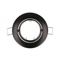 LED LINE® CLASSIC GU10 LEDpirni 9.2cm suunatav paigaldusrõngas, must