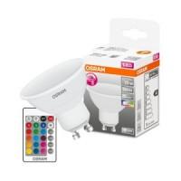 OSRAM ™ GU10 LED bulb RGBW 120° 4.5W 250lm with remote
