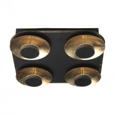 Ceiling lamp HiTech 24W  3000K 1920lm 35cm black/gold