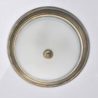 Laelamp ARIADNA 38cm 3xE27 valge/antiikkuld
