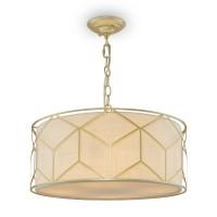 Pendant lamp Greece 4xE27 45cm linnen/gold