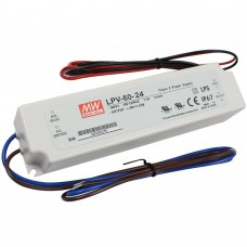 LPV-60-24 Mean Well Power Supply for 24V LED Strips 60W