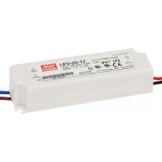 LPV-20-12 Mean Well  Power Supply for 12V LED Strips 20W