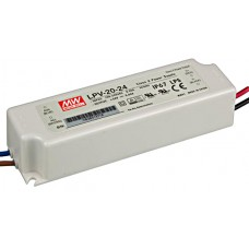 LPV-20-24 Mean Well Power Supply for 24V LED Strips 20W