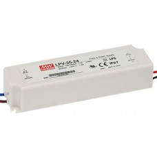 LPV-35-24 Mean Well Power Supply for 24V LED trips 36W