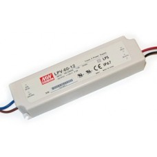 LPV-60-12 Mean Well Power Supply for 12V LED Strips 60W