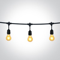 String Light T-LIGHT 15xE27 pendant lampholders 8.5m IP44
