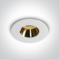 ONE DEEPREFLECT deep GU10 LED bulb mounting ring Ø7.9cm white/gold