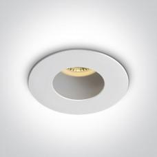 ONE DEEPREFLECT deep GU10 LED bulb mounting ring Ø7.9cm white