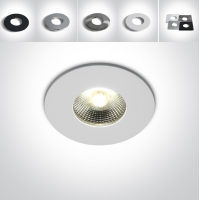 ONE Fire Rated IP65 LED Downlight 6W 3000K 500lm 40°-dimmable - choose ring color