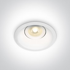 ONE DIRECT deep GU10 LED bulb mounting ring 10.4cm white
