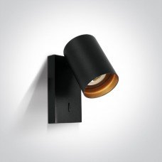 Lugemislamp seinale CLOONEY 5W LED 3000K 500lm 60° Matt must/ kuldne