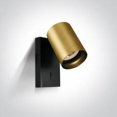 Lugemislamp seinale CLOONEY 5W LED 3000K 500lm 60° Kuldne/must
