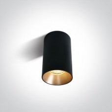 Ceiling lamp GU10 bulb base CHILL OUT CYLINDER 7.5x13.5cm black