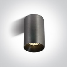 Ceiling lamp GU10 bulb base CHILL OUT CYLINDER 7.5x13.5cm metal grey