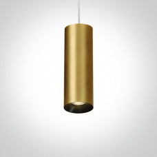Pendant lamp GU10 bulb base CHILL OUT CYLINDER 7.5x24cm brushed brass