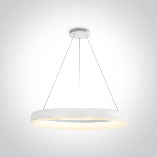One Pendant Lamp Ring O60cm 40w 3000k 2400lm White