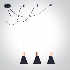 Pendant lamp MANTRA 3xE27 black/copper